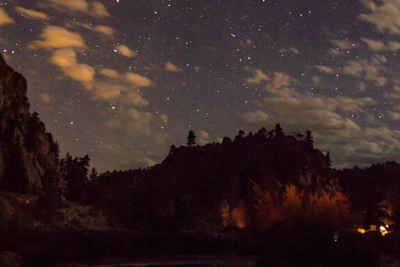 Overnight rafting in Browns Canyon.