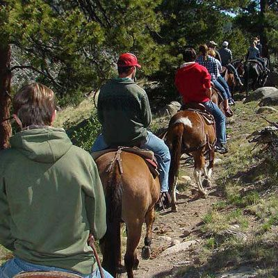 Horseback rides in Colorado.