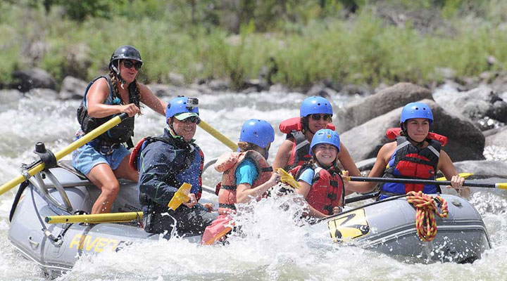 Rafting near Colorado Springs, Colorado.