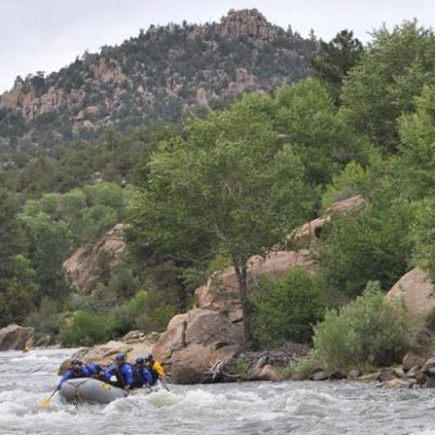 Colorado whitewater rafting the Narrows.
